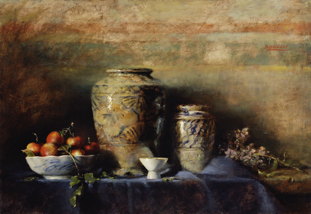 "OLD PERSIAN VASES   KNICKERBOCKER ARTISTS | SALMAGUNDI CLUB  LOEB MEMORIAL AWARD FOR PAINTING  oil on linen |  18"" x 26"