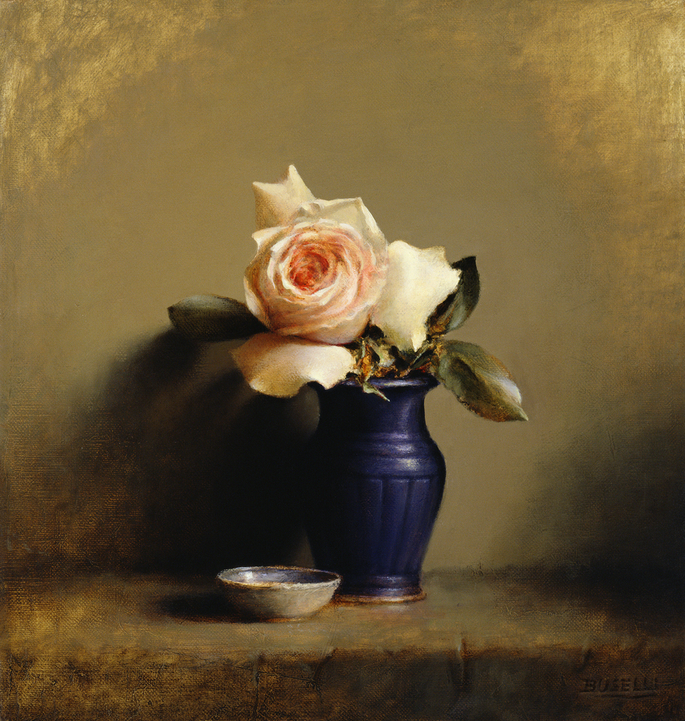 "STUDY OF A ROSE    BEST IN SHOW | AMERICAN WOMEN ARTISTS   oil on linen | 16"" x 15"""