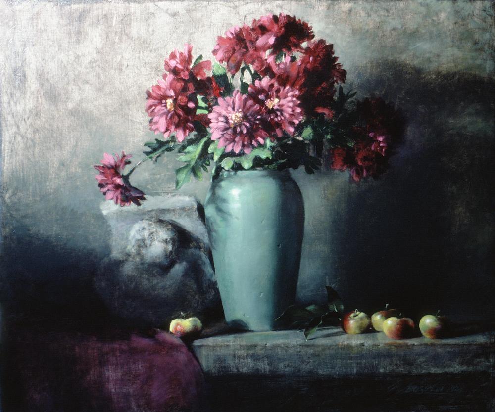 "THE JADE VASE  oil on canvas | 21"" x 24"""
