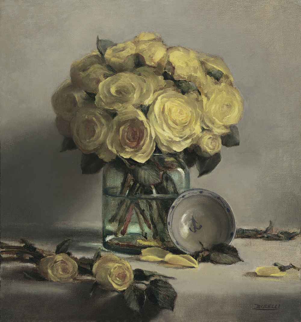2Buselli, Yellow Roses, less saturation, 15 x 16, oil on linen 200.jpg