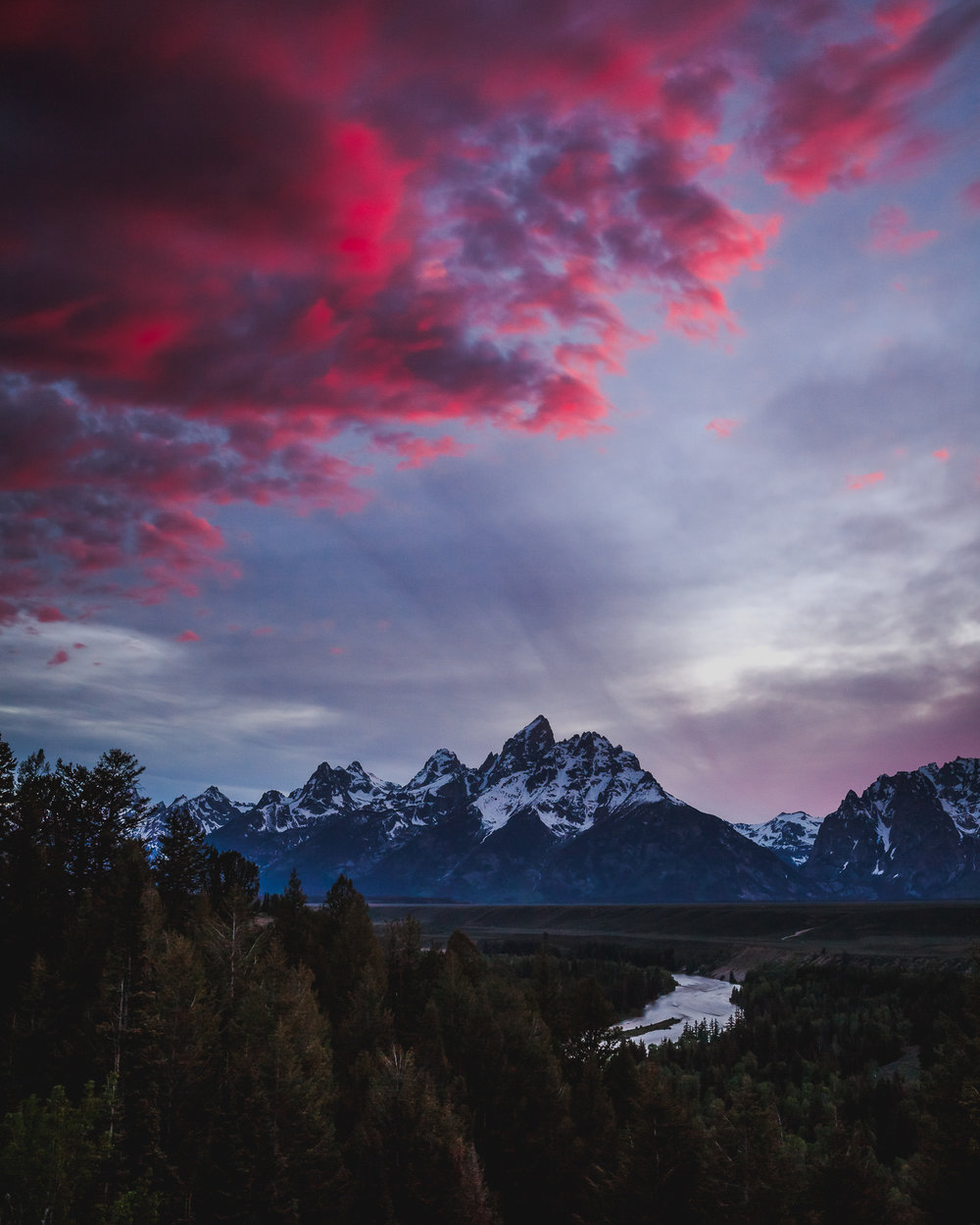 Red Teton Sunset