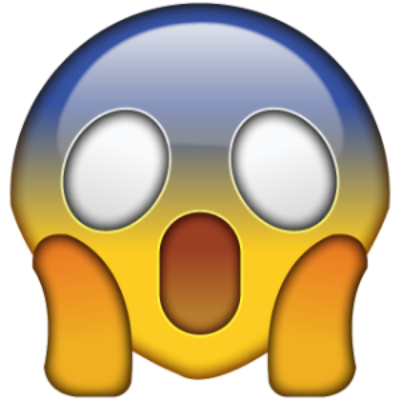 Exhibit B: The OMG Emoji, but I think we can all agree it's screaming.