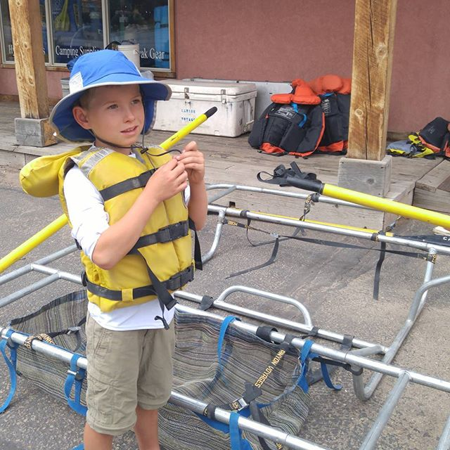 Gearing up for our paddle down the Green River.