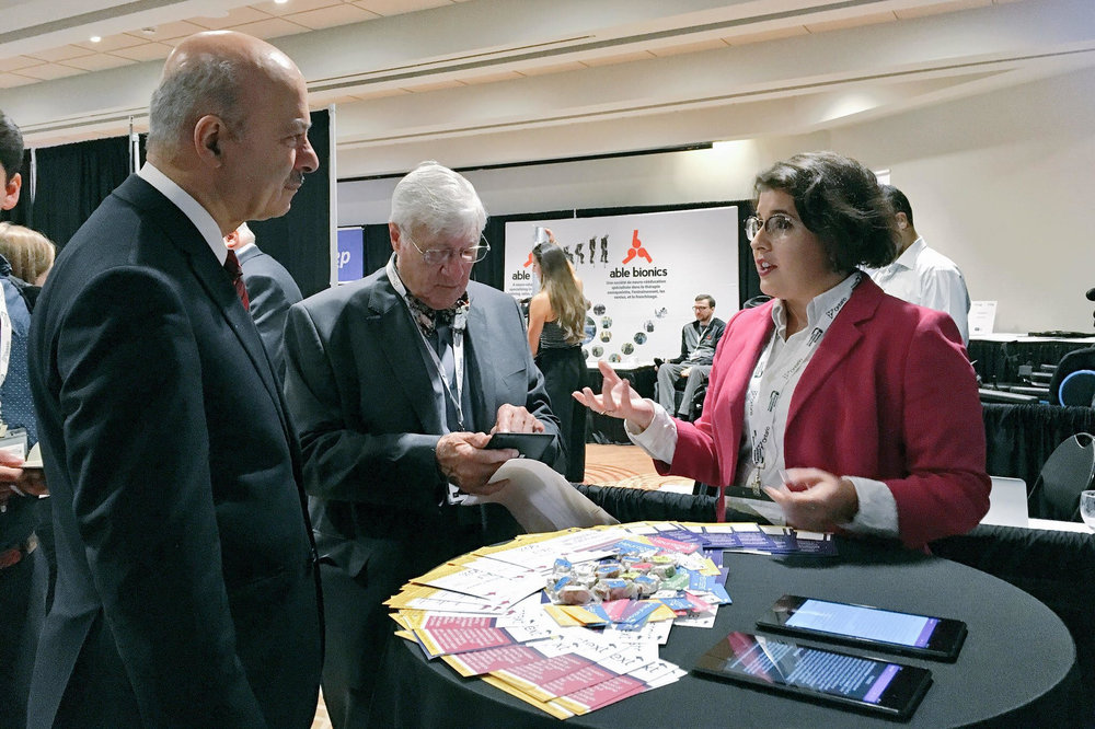 Founder & CEO Melissa Kargiannakis Sharing with the Honourable Minister Moridi at the Invictus Games Accessibility Innovation Showcase.