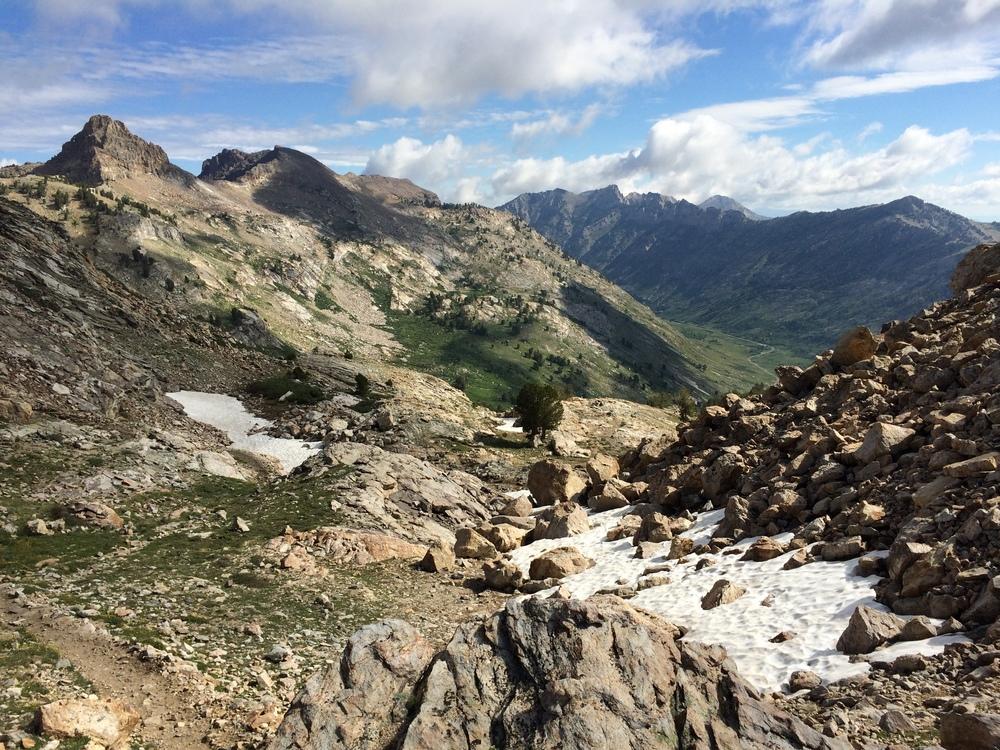 Snow Lake Peak and Lamoille Canyon from Liberty Pass