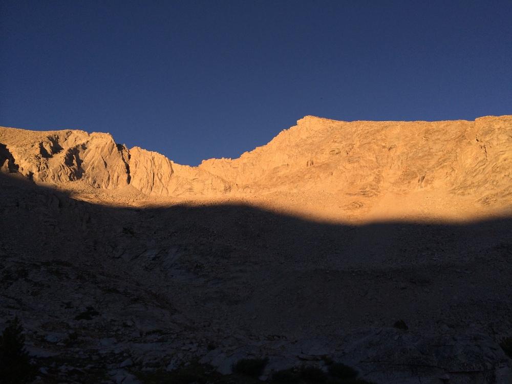 Alpenglow upper Lake Basin