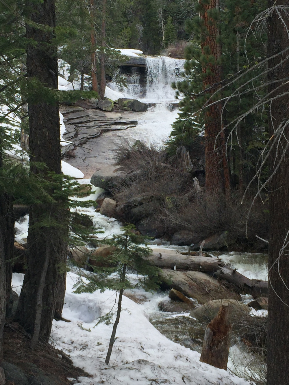 Snow Creek Falls, mid-afternoon