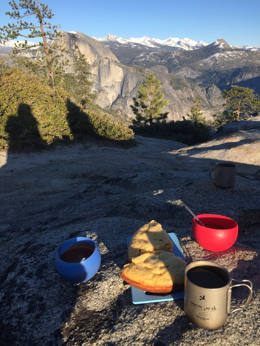 Cornbread, Madras lentils, and Miso with a view like no other