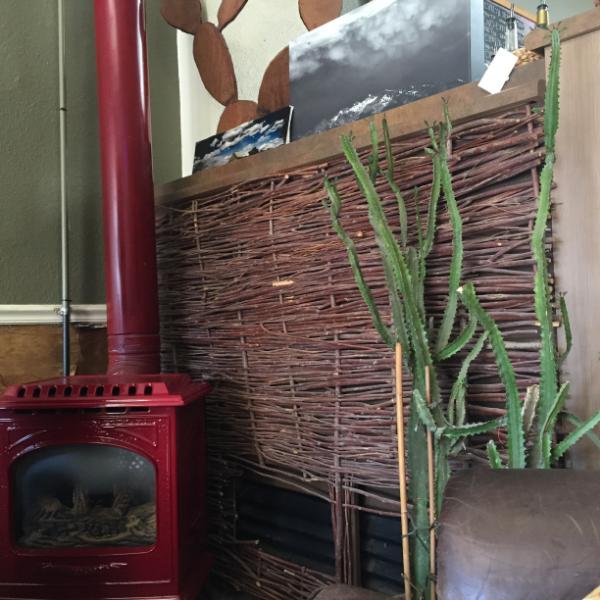 A cozy corner at Cowboy Joe Coffee in Elko NV (w/robust WiFi!)