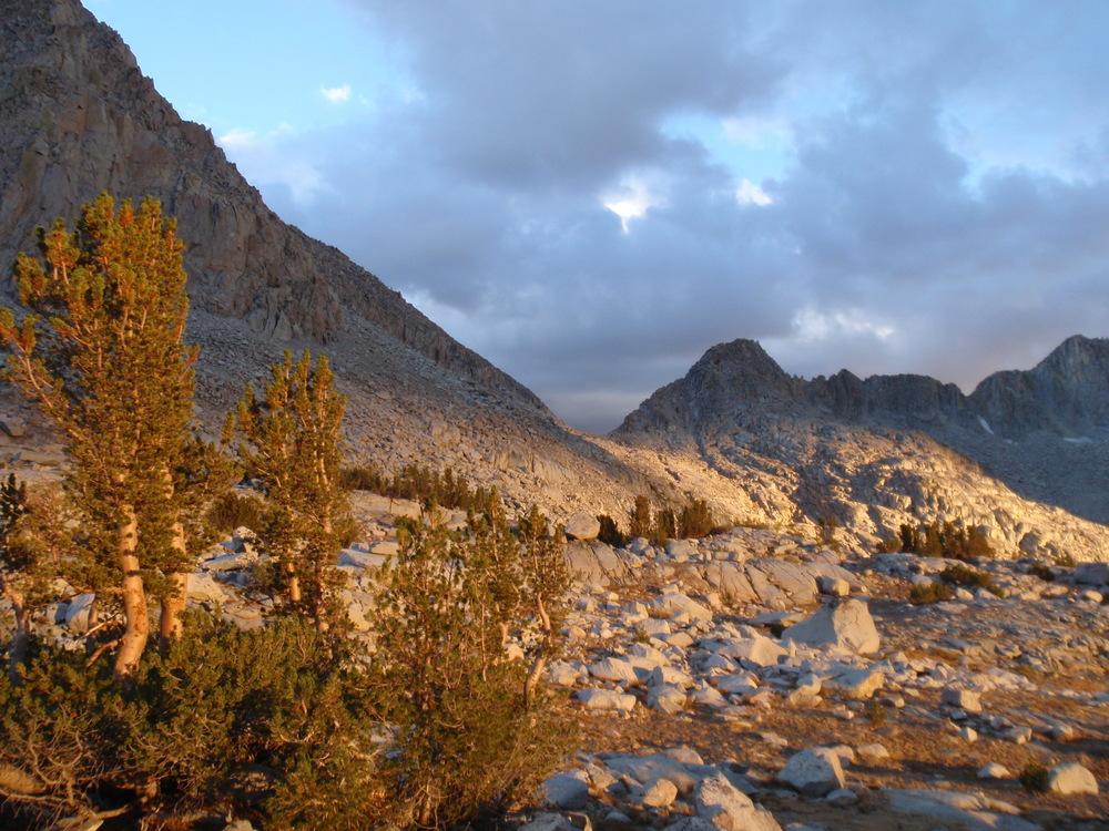 Dusy Basin towards Knapsack Pass