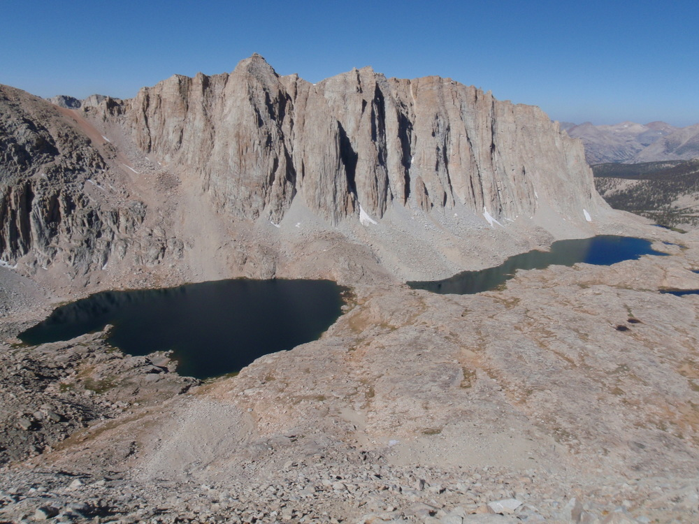 Hitchcock Lakes below Mt. Hitchcock, southwest of Mt. Whitney