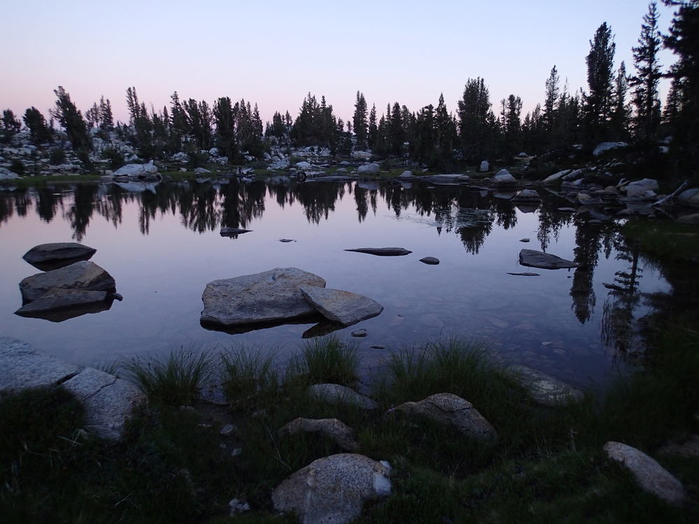 Grouse Lake Outlet at dusk
