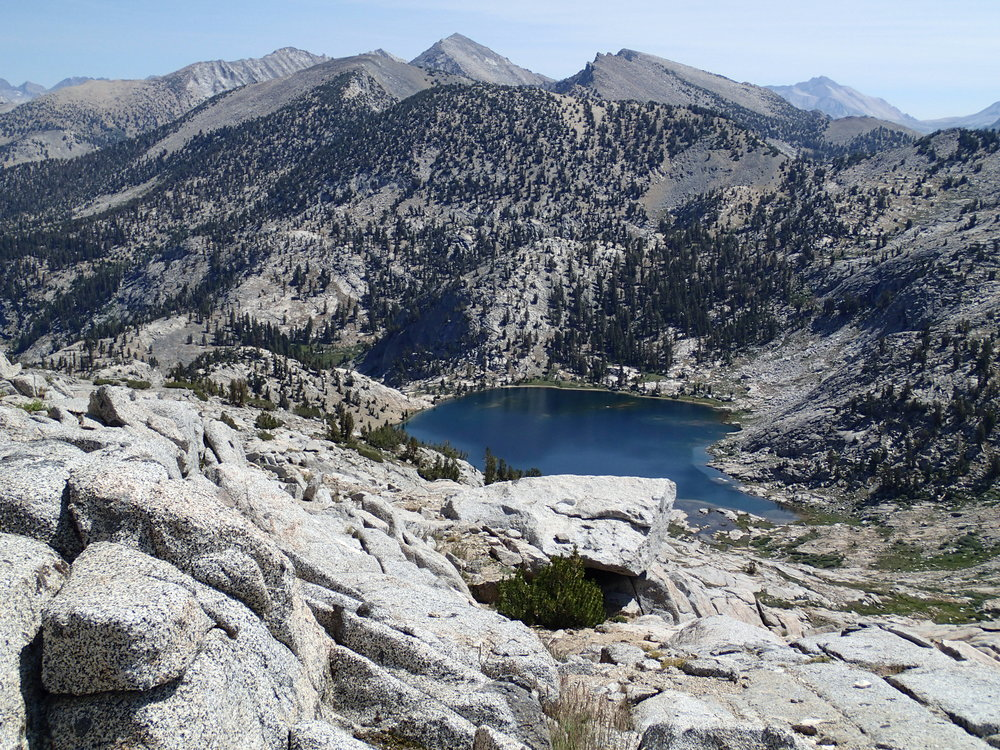 Upper Glacier Lake from Goat Crest Saddle.