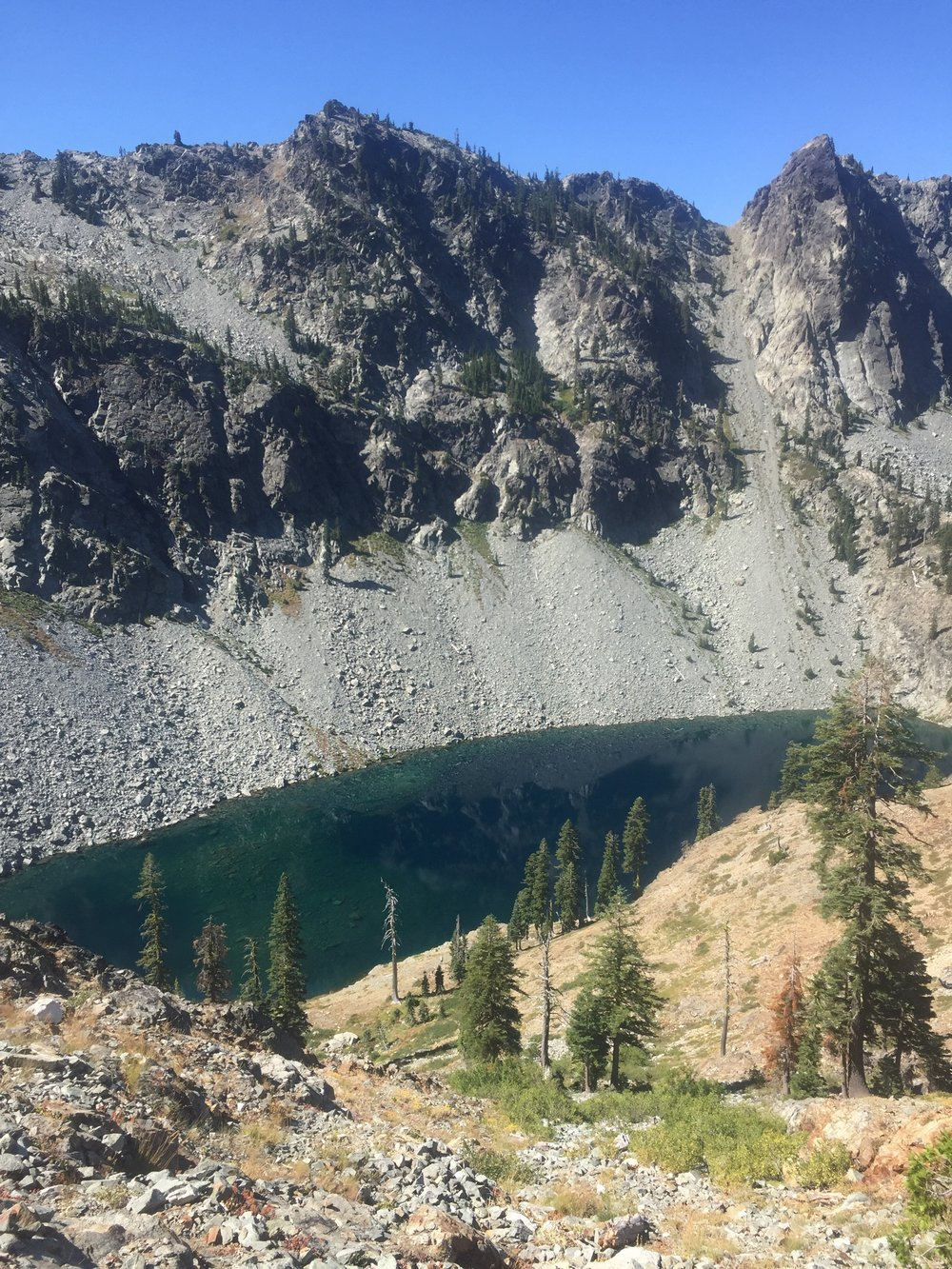 Man Eater Lake in Marble Mountain Wilderness, a place we'd love to visit on a future trip