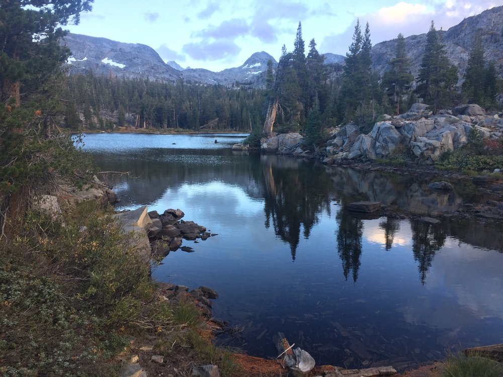 Dorothy Lake in the last light of day