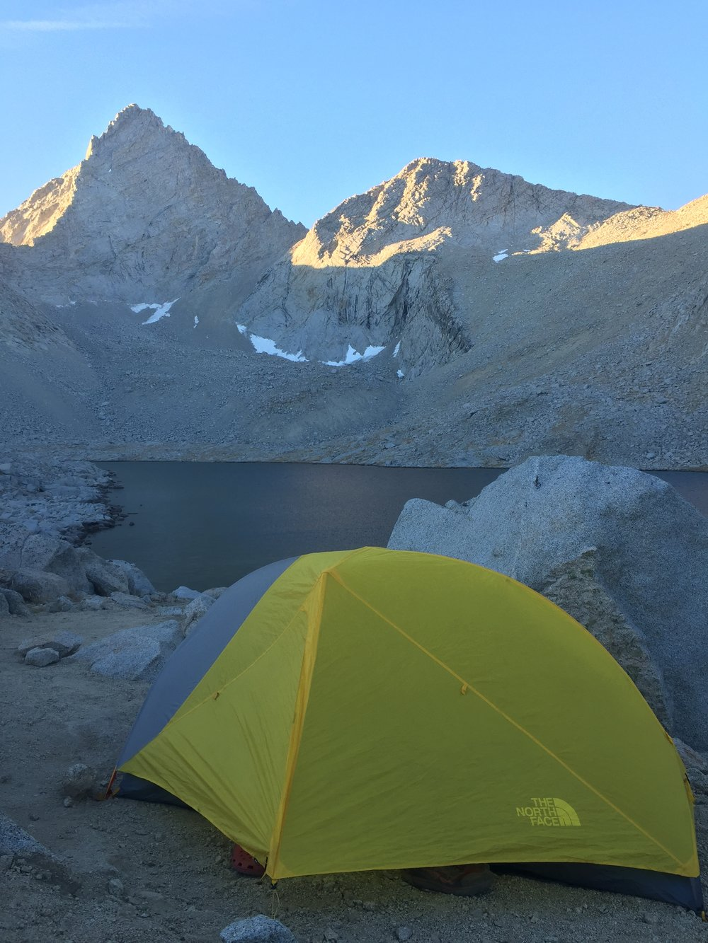 Junction Peak, the last lake before Forester Pass, and a very cold night