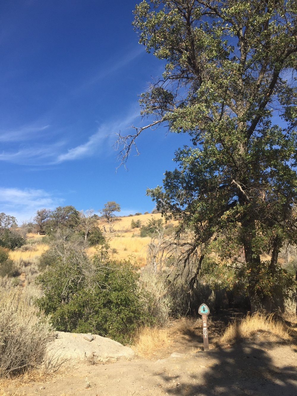 Dry hills above Oakdale Canyon