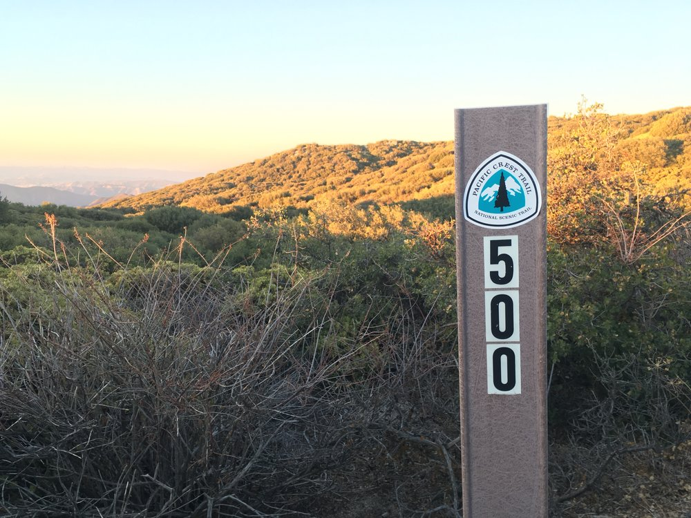 The official 500 mile marker