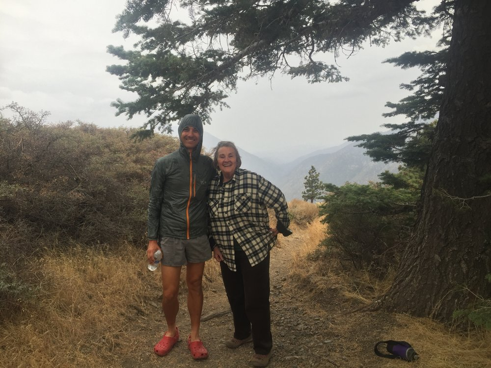 Anna and I on our PCT hike to Inspiration Point.