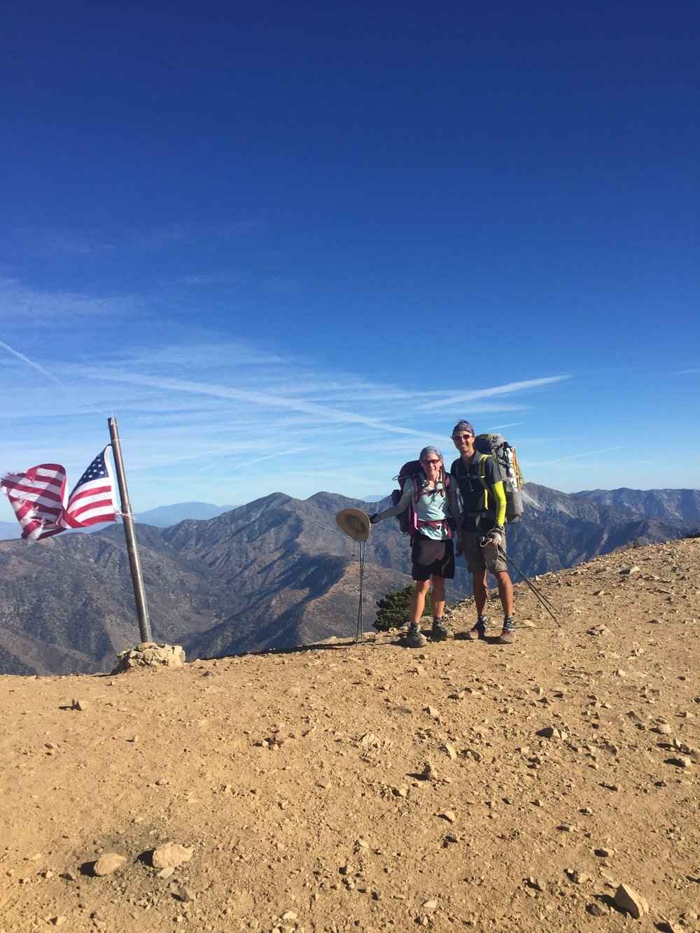 Huckleberry and I on the summit of Mt. Baden-Powell.