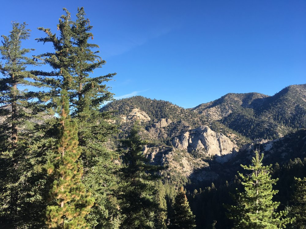 If you have to walk a road, at least the Angeles Crest Hwy has views.