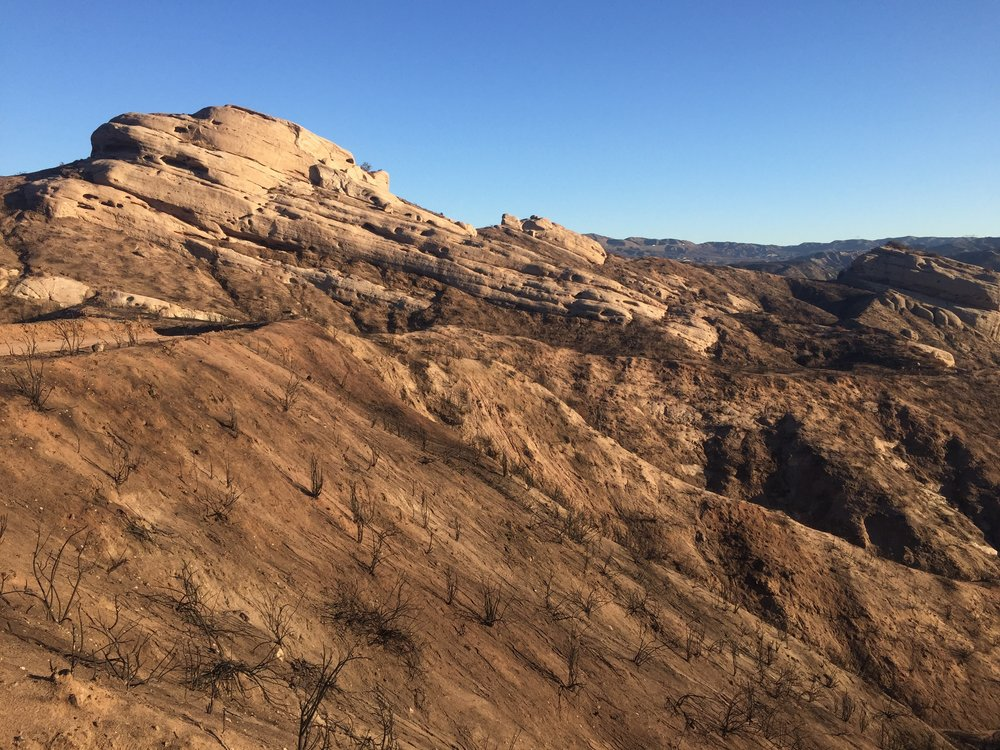 Sandstone formations along the RR tracks near I-15