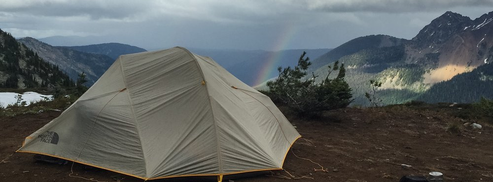 Rainbow on WA high point ridge