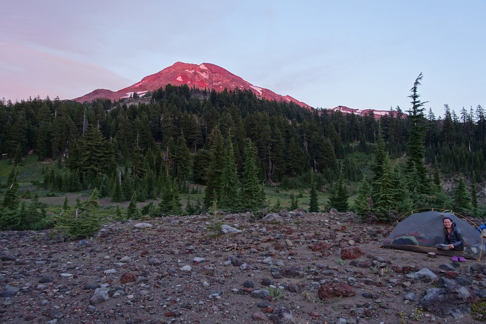 PCT Day 38- Middle Sister Sunset.JPG