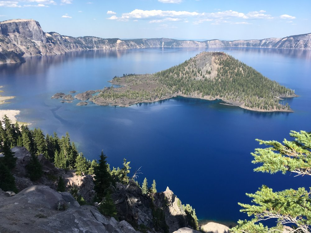 PCT Day 43- Wizard Island and Crater Lake.JPG