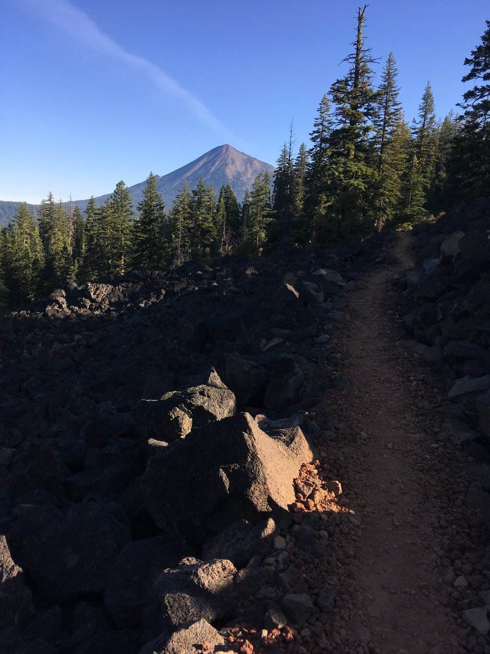 PCT Day 46- Mt McLoughlin in the morning.JPG