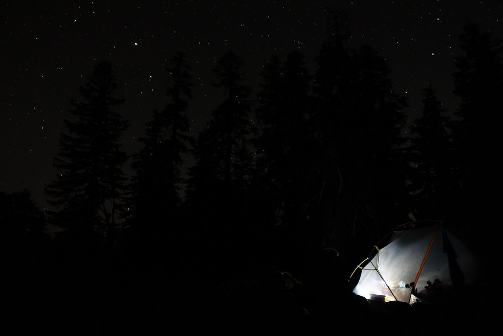 PCT Day 49- C journaling last night in Oregon.JPG