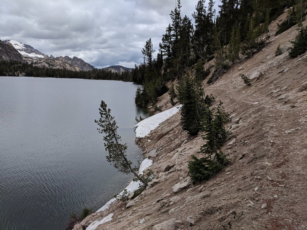 Imogene Lake, new trail