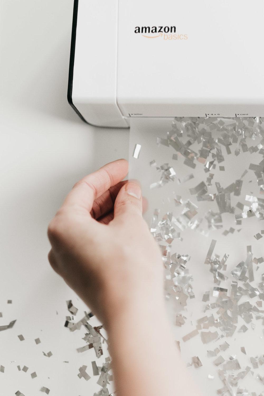 DIY Glitter Confetti Placemats