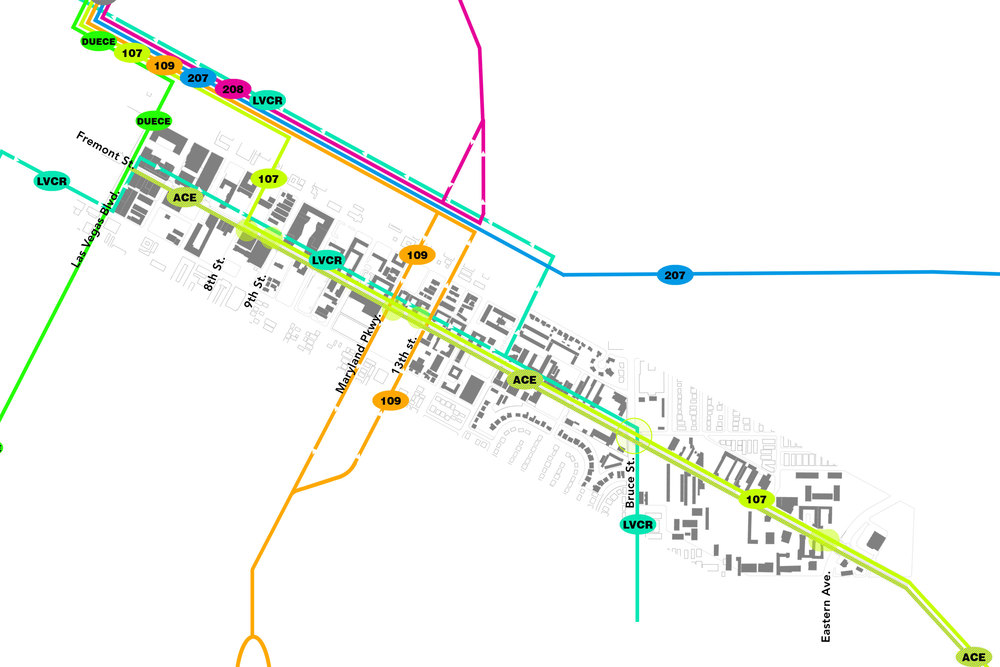Stops with Bus Routes