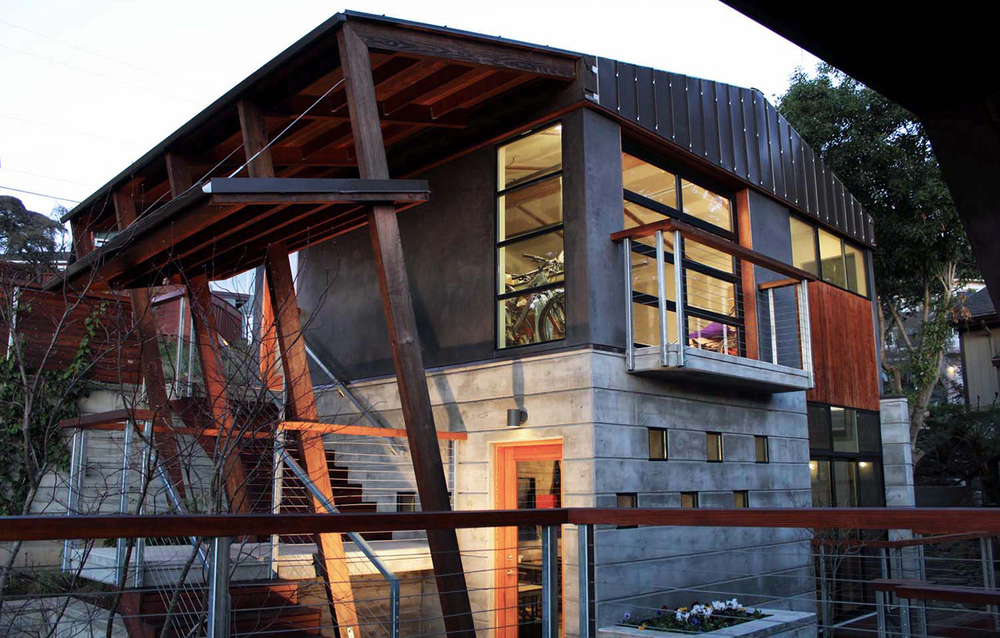 Bell Garage Residence - Aptos, CA - Exterior Beams