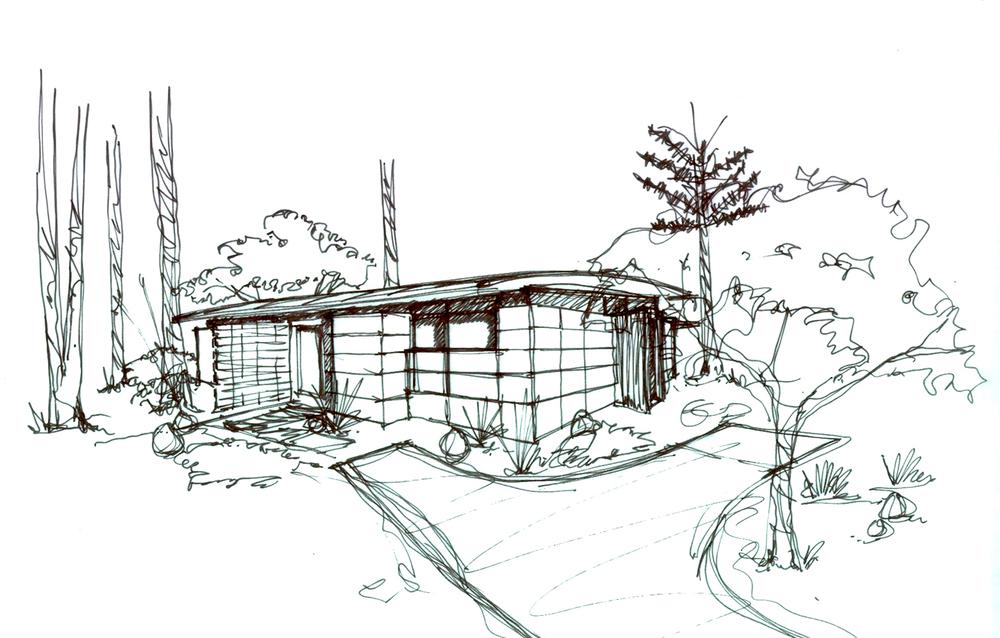 Fern Flat Residence Sketch