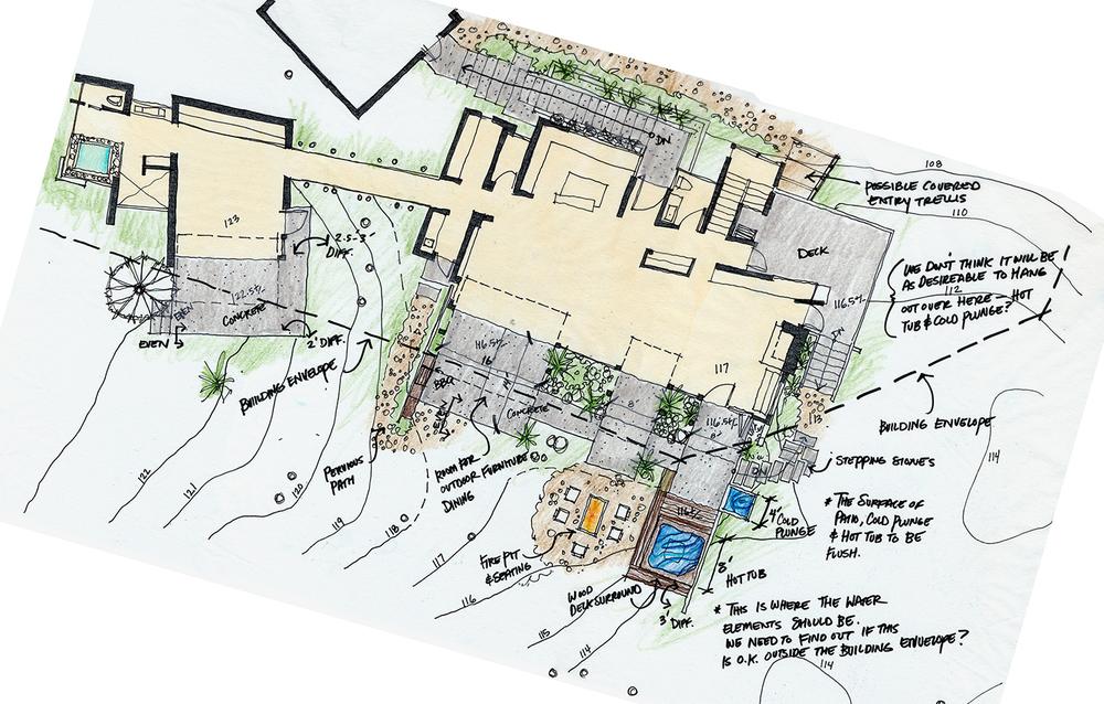 Fern Flat Residence Floorplan Rendering