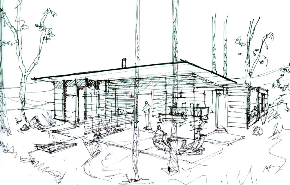 Fern Flat Residence Sketch Patio