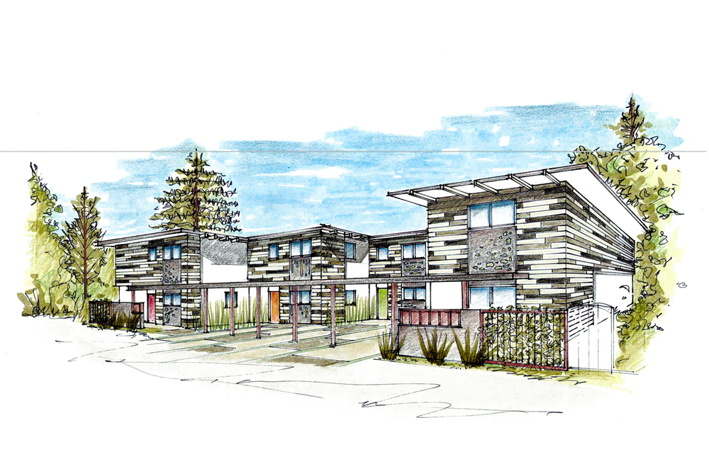River Street Multifamily Apartment Sketch - Soquel, CA