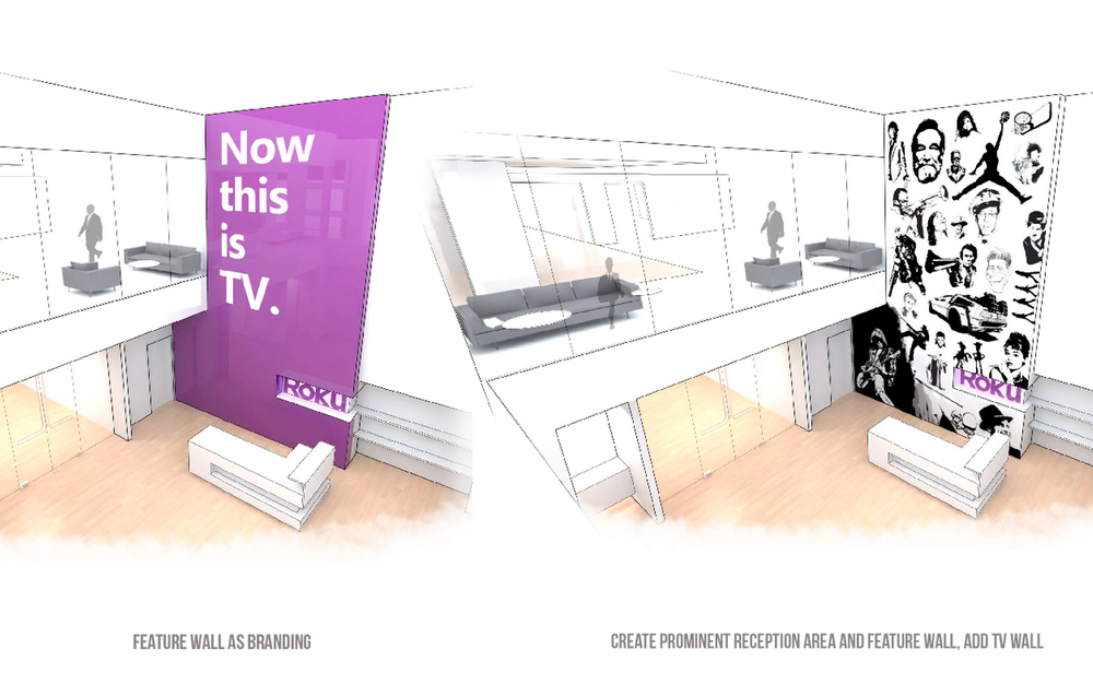Roku Headquarters Interior Sketch - Los Gatos, CA