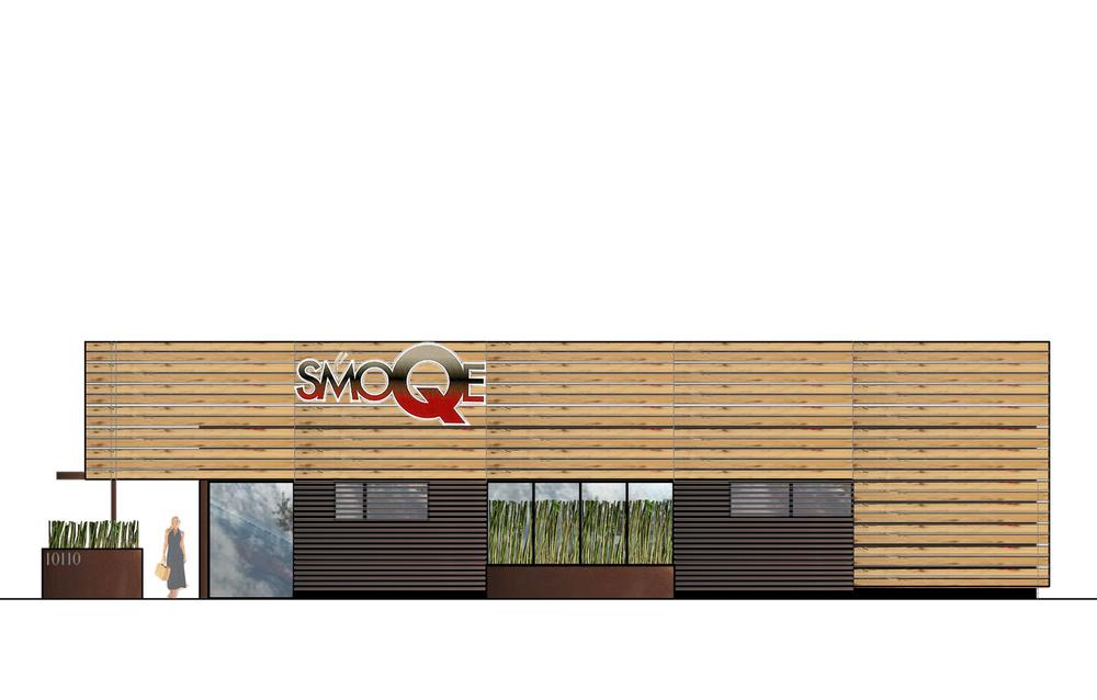 SmoQe Restaurant Concept 3d Design Rendering