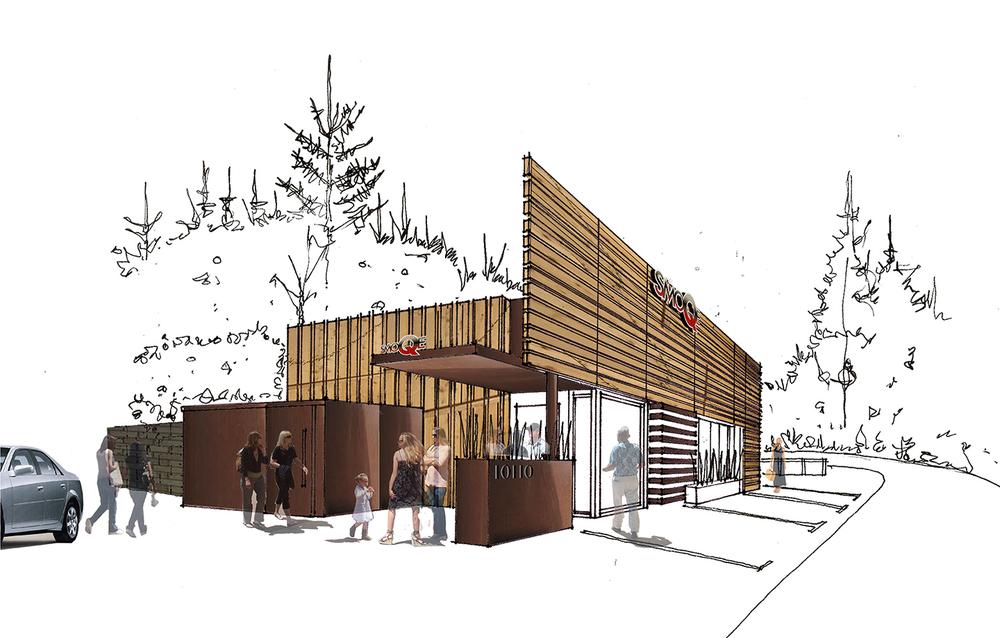 SmoQe Restaurant Concept Rendering Sketch
