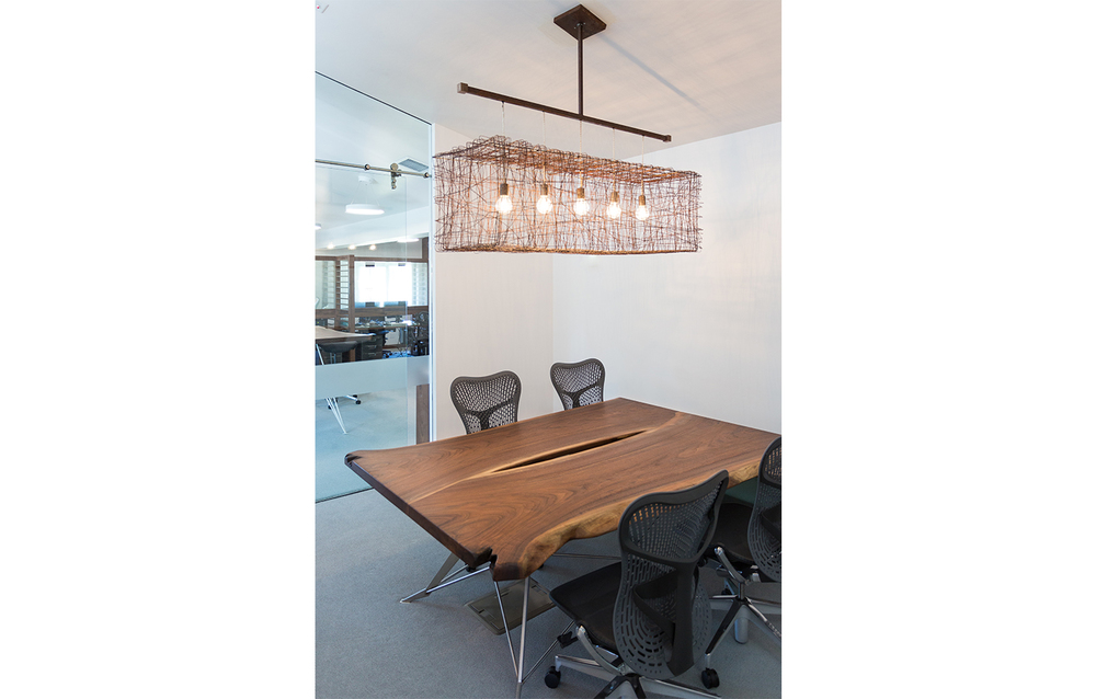 Sculptural Lighting in Modern Office