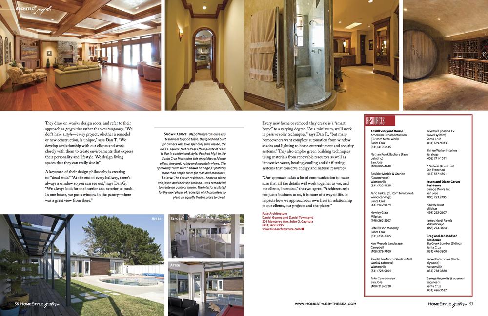 Fuse Architecture Press - Builder + Architect Magazine inside spread 2