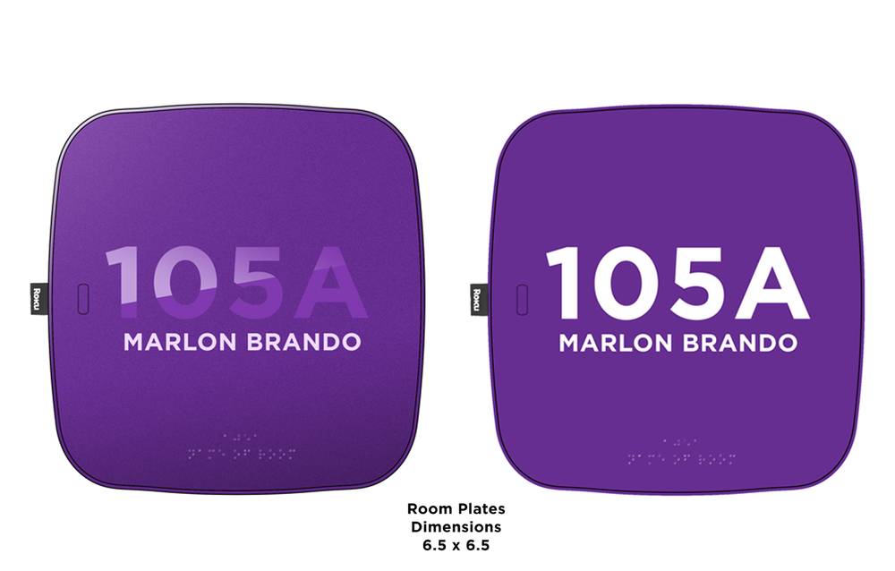 Roku Headquarters Room Plates