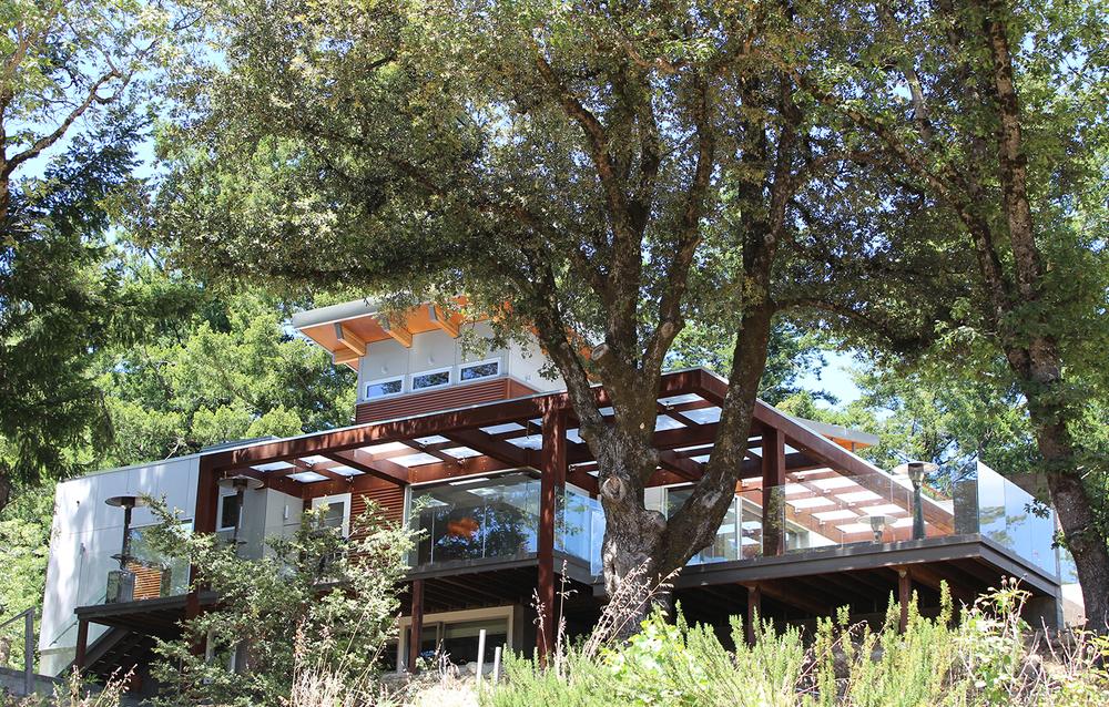 Las Cumbres Residence - Los Gatos, CA - Exterior Balcony