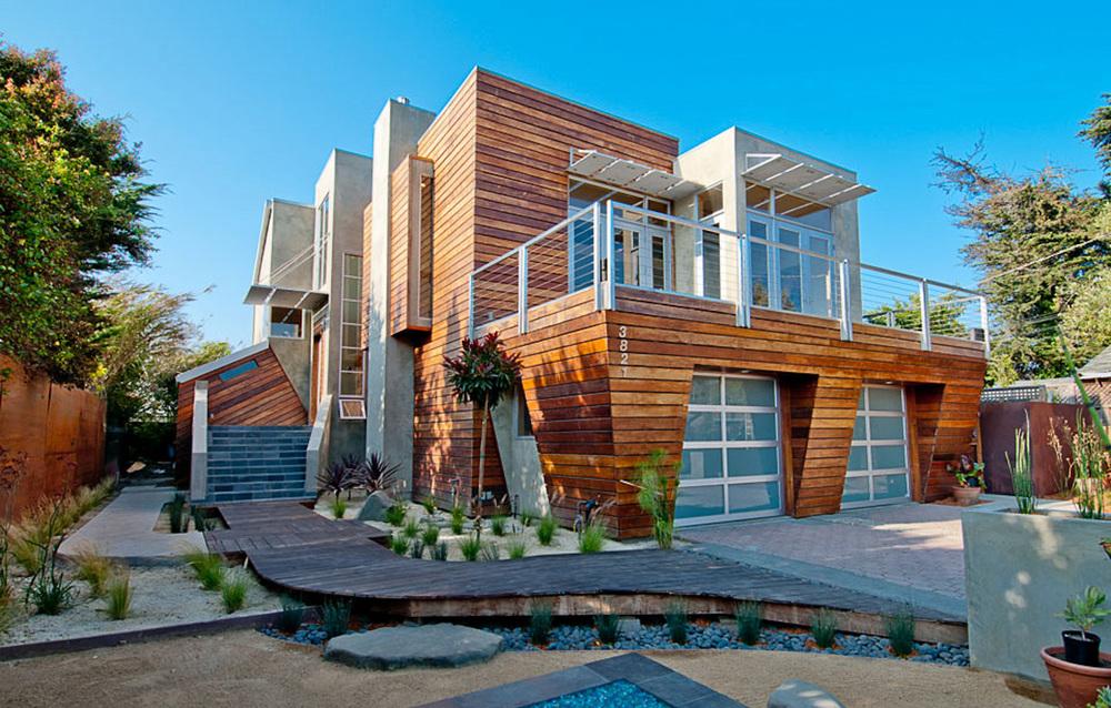 Moana Residence Exterior - Custom Home Design - Santa Cruz, CA