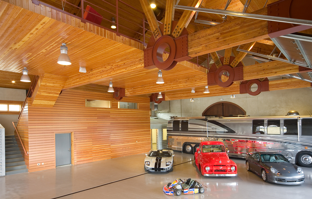 BRV Barn Car Showcase Room Interior - Los Gatos, CA