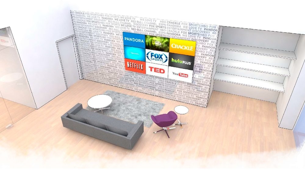 Roku Headquarters Lobby Sketch 1 - Branding Wall