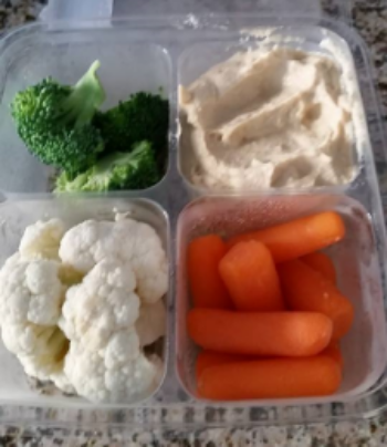Healthy Snack Idea - Raw veggies and hummus